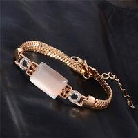 Bracelet Gourmette Femme Doré Chic Diamant De Cristal