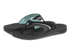 a1c5db0a4 Women Reef Sandal Slap 3 Flip Flop RF1084 Black Aqua 100% Original ...