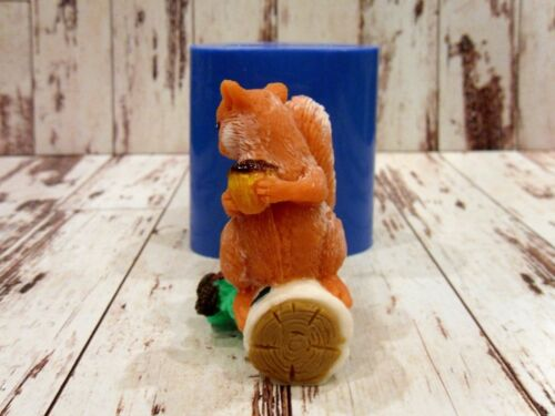 """/""""Squirrel with a nut 2/"""" silicone mold for soap and candles making mould mold"""