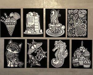 8x Din A 4 Mandala Velour Vorlagen Bild Malen Malbuch Geschenk Erwachsene Stoff Ebay