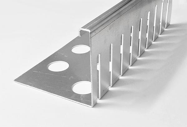 Sparset 7 St Kiesfangleiste Aluminium Gelochte Kiesleiste Balkon 3-fach gekantet
