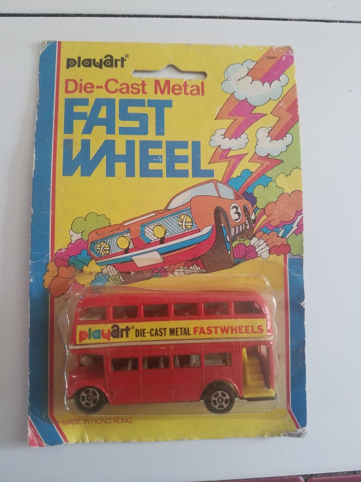Playart diecast double decker Red Bus London Fast Wheel blister pack 92 Oxford