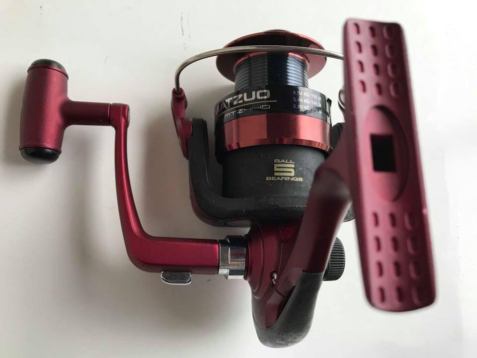 MATZUO MTZ4140 Spinning Fishing Reel RED 10lb 215yd fish tool ( please read ..)
