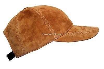 New BASEBALL Cap Tan Mens Ladies Real Soft Nappa Leather Hip-Hop Cap Hat