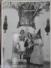 Vecchia foto d epoca fotografia antica BAMBINI VESTITI DA CARNEVALE OLANDESINA