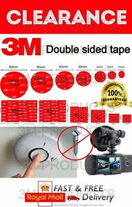 3M Double-Sided Sticky Pads Dash CAM Pro Stickers NEW & IMPROVED !NO MORE NAILS!