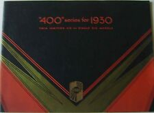 Nash 400 Series Twin Ignition & Single Six 1930 Original Dutch Prestige Brochure
