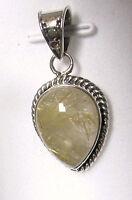 Rutilated Quartz Pendant In 925 Sterling Silver