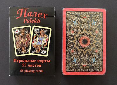Playing Cards Russian Palekh Red Deck 55 Cards New Sealed