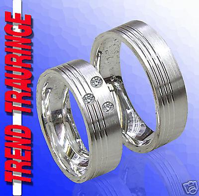 MüHsam 2 Trauringe Verlobungsringe Ringe Silber &gravur T27-32 Hohe QualitäT Und Preiswert