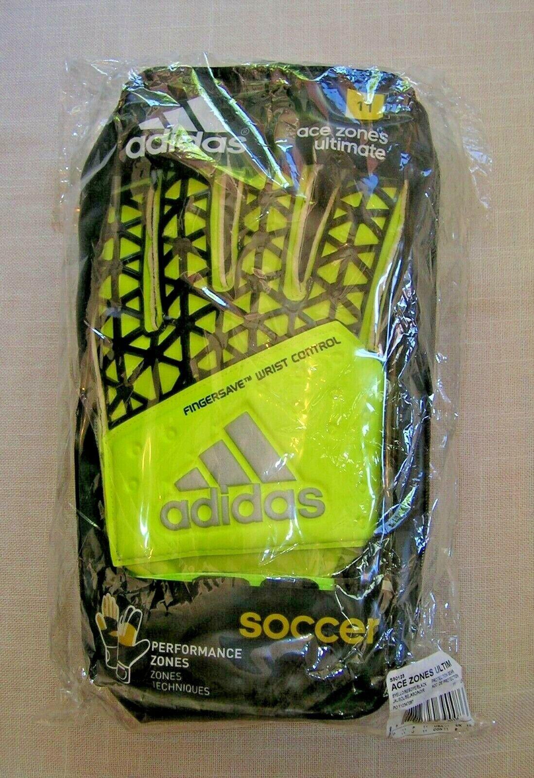 Adidas para hombre 11 zonas de control de Muñeca Ace Ultimate FINGERSAVE Portero Guantes S90123