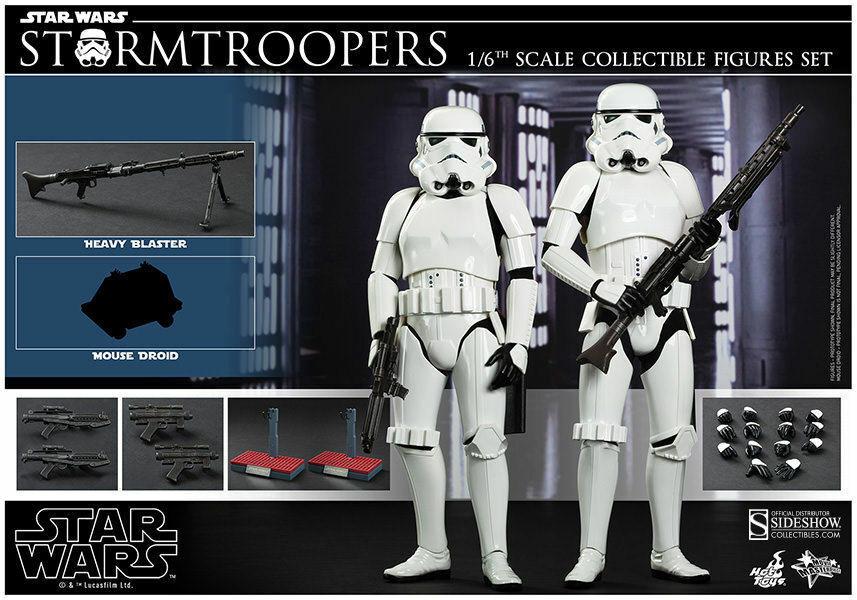 Hot Toys STAR WARS Episode IV New Hope Stormtrooper STORMTROOPERS Set MMS268