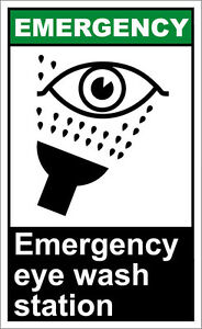 image is loading emergency eye wash station emergency osha ansi label - Eye Wash Station Osha