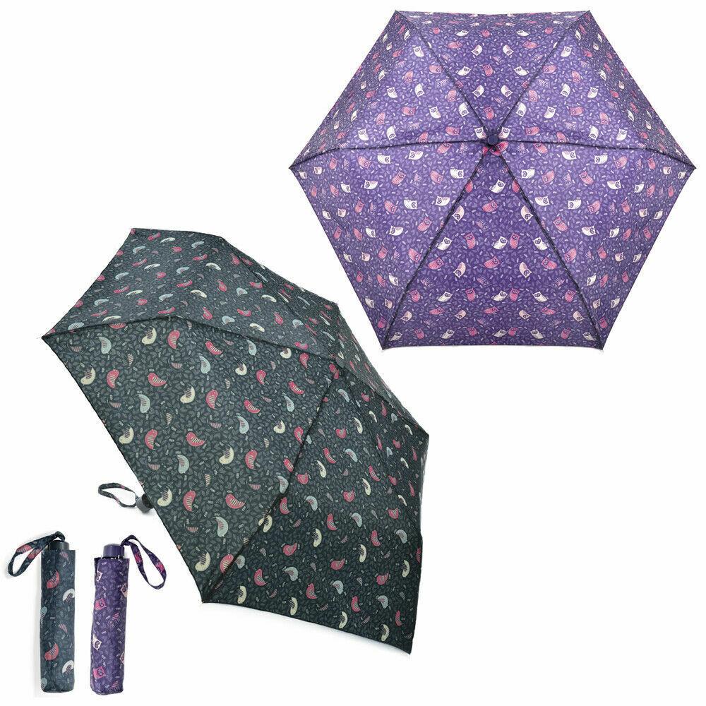 Drizzles Búho / Pájaros Súper Mini Paraguas con Cubierta: UU293