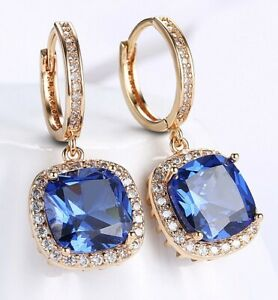3CT-Sapphire-Halo-Cut-Drop-Earring-Made-with-Swarovski-Crystal-18K-Gold-Plated