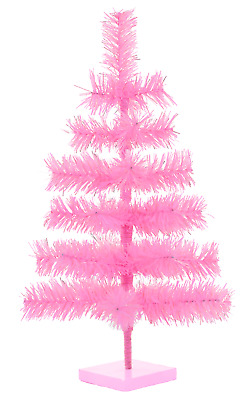 18/'/' Pink Barbie Tinsel Tree Christmas Holiday Tree 1.5FT Table-Top XMASS Decor