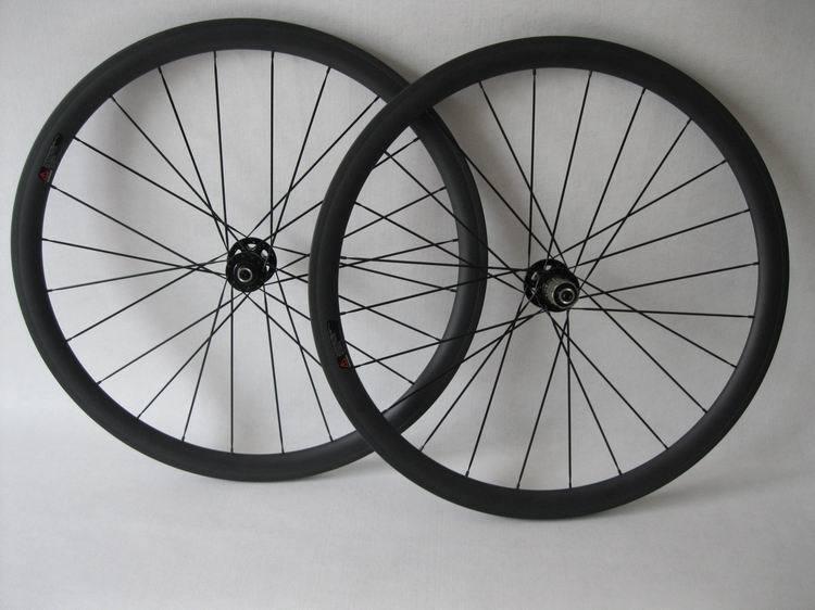 Carbon cyclocross wheelset 38mm tubular carbon wheelset 700C wheels disc brake