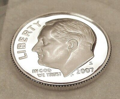 Gem Cameo 2007-S PROOF 90/% SILVER Roosevelt Dime FREE SHIPPING!