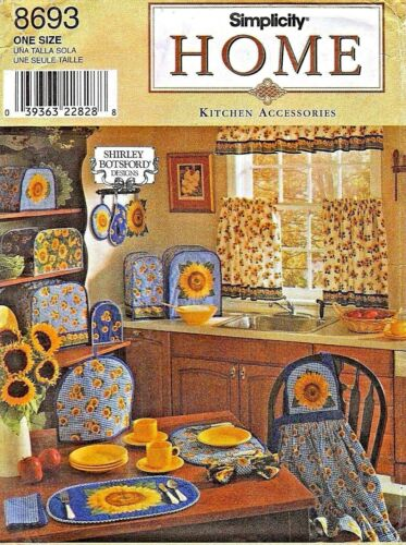 SIMP 8693 OOP Sunflower Kitchen Accessories Pattern