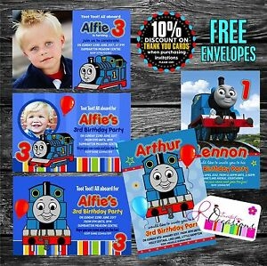 Image Is Loading Personalised THOMAS THE TANK ENGINE Birthday Party Invitations