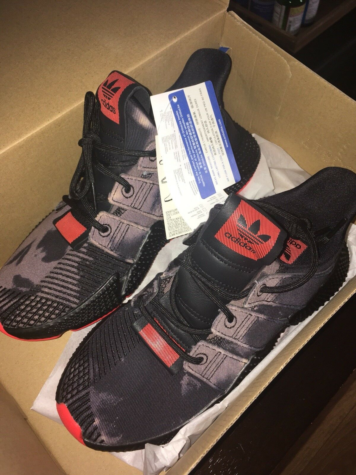 Adidas orginals prophere unisex men women Bleached orange Bold Camouflage size 5