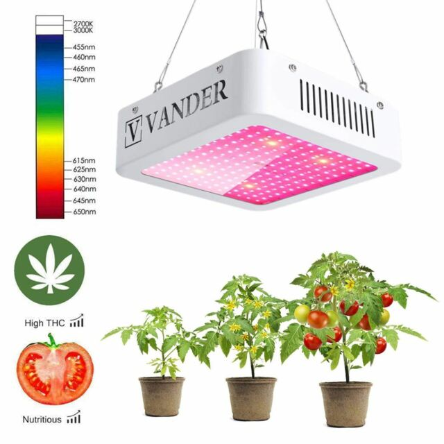 1000w Grow Light White Led Hydroponics Growing Indoor Flower Ir Uv Veg Plant Kit