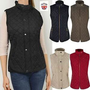 f326425d59d98 Image is loading NEW-WOMENS-LADIES-GILET-BODYWARMER-JACKET-QUILTED- SLEEVELESS-