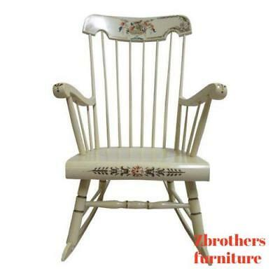 Awe Inspiring Bent Brothers White Hitchcock Paint Decorated Rocker Rocking Chair Ebay Machost Co Dining Chair Design Ideas Machostcouk