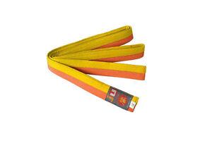 Ju-Sports Budo-Gürtel gelb/orange  Karate, Judo, Ju-Jutsu, Taekwondo-Gürtel