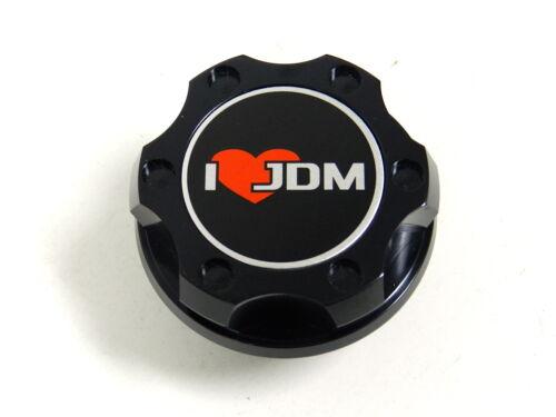 BLACK I LOVE JDM BILLET CNC RACING ENGINE OIL FILLER CAP FOR HONDA ACURA