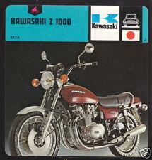 1976 KAWASAKI Z 1000 Z1000 Motorcycle PICTURE 1978 CARD