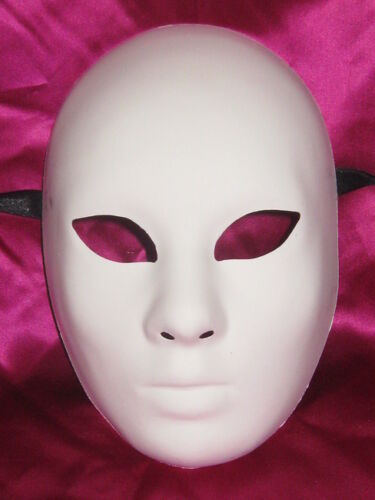 UNPAINTED BLANK VOLTO GREZZO VENETIAN MASQUERADE DECORATE YOUR OWN MASK