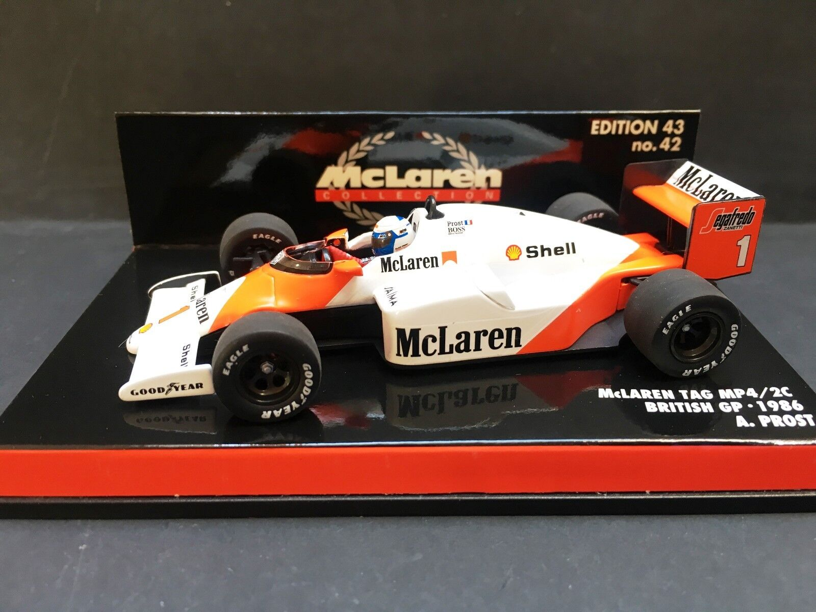 Minichamps - Alain Prost - McLaren - Mp4/2C - 1:43 - 1986 - British GP