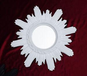 Baroque-Antique-Wall-Mirror-Sun-in-White-42x42-Cm-round-Repro-11