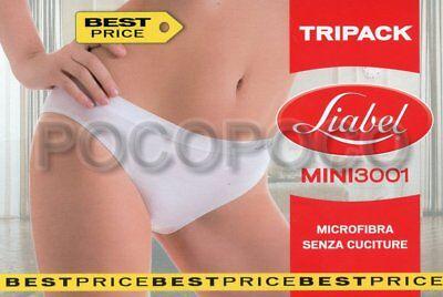 3 Underwear Mini Woman Microfibre Liabel Art Panties 3001