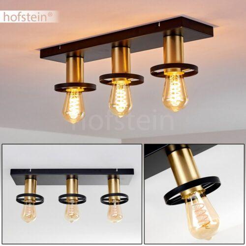Decken Lampen schwarz//gold Wohn Schlaf Zimmer Beleuchtung Flur Dielen Strahler