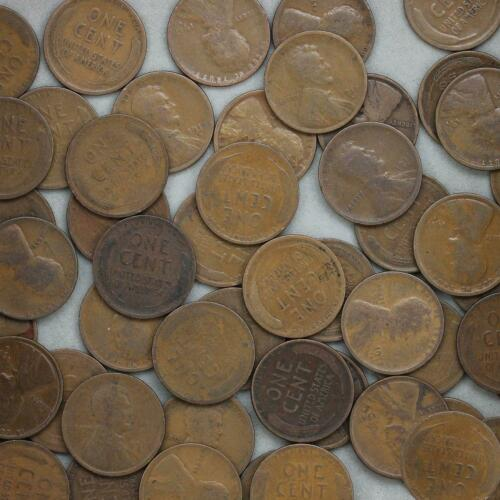 1917-D LINCOLN WHEAT CENT ROLL