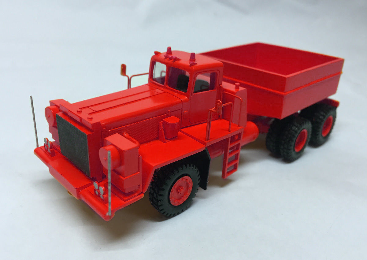 HO 1 87 Pacific P12W 6x4 Prime Mover - RED - Hand Made Resin Model