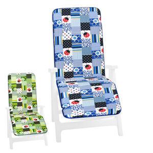 Kissen Liegestühle Sessel Soft Fußstütze Klappbar Startseite Garten Marienkäfer