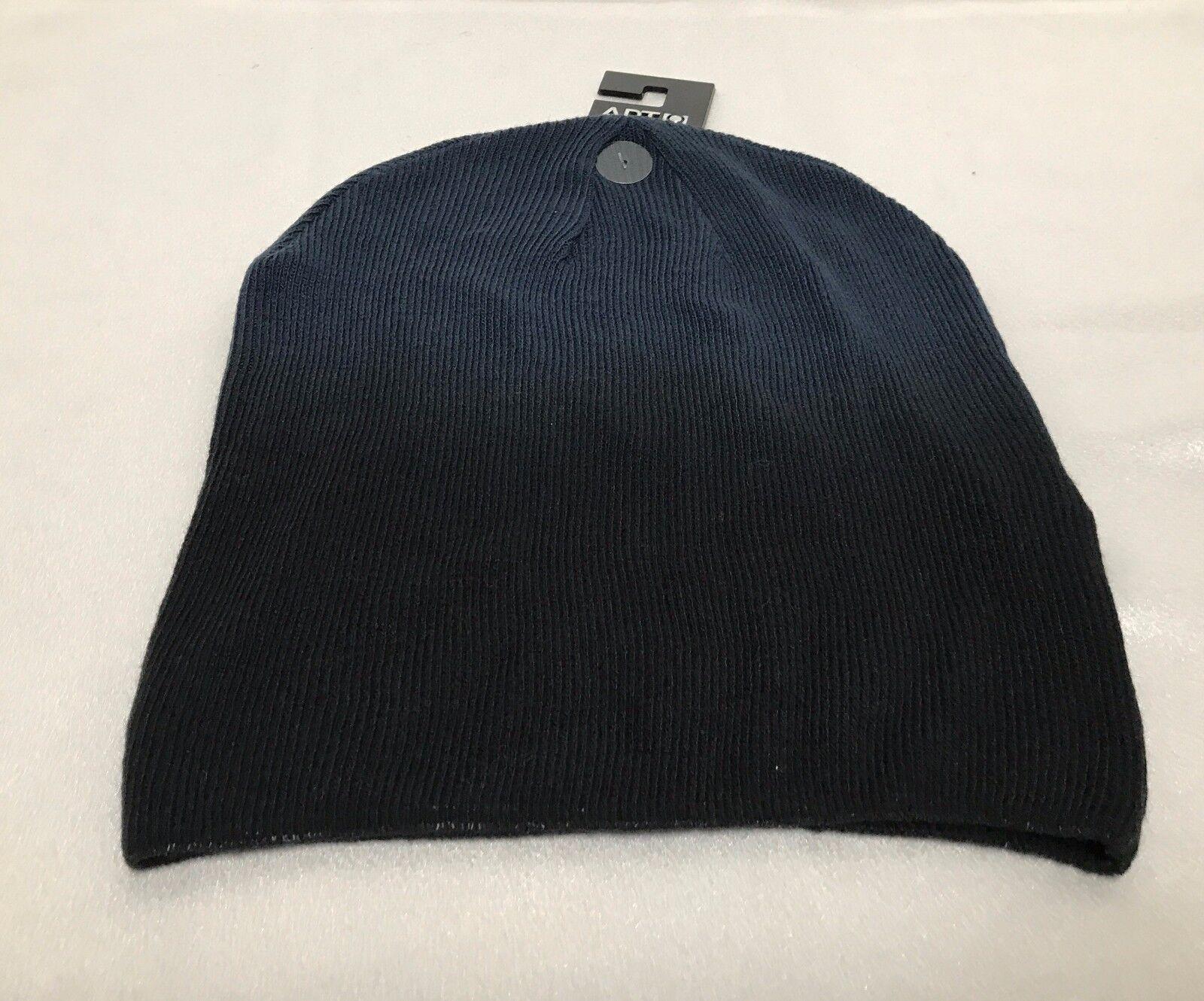 b6e4948336 APT 9 Womens Mens Knit Hat Beanie Navy Blue Graded Lightweight ...