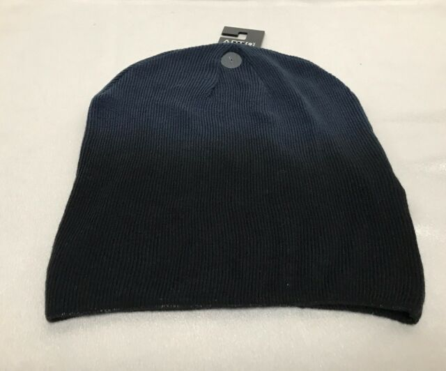 b3997a0a8e Apt 9 Womens Mens Knit Hat Beanie Navy Blue Graded Lightweight Winter Wear  C4