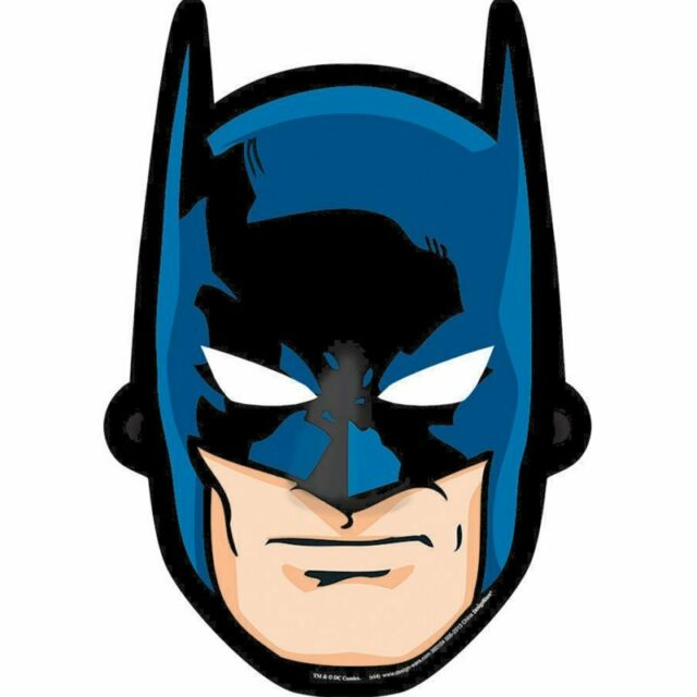 BATMAN FACE MASKS PACK OF 8 BIRTHDAY PARTY BATMAN FACE MASKS