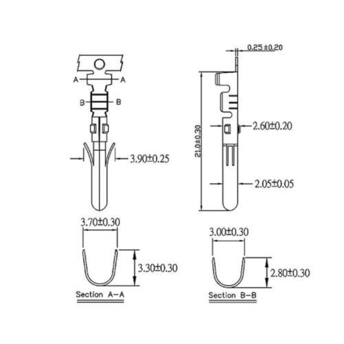 10x Molex 5,25 4-Pin Crimp Buchse 12V Stromkabel Floppy