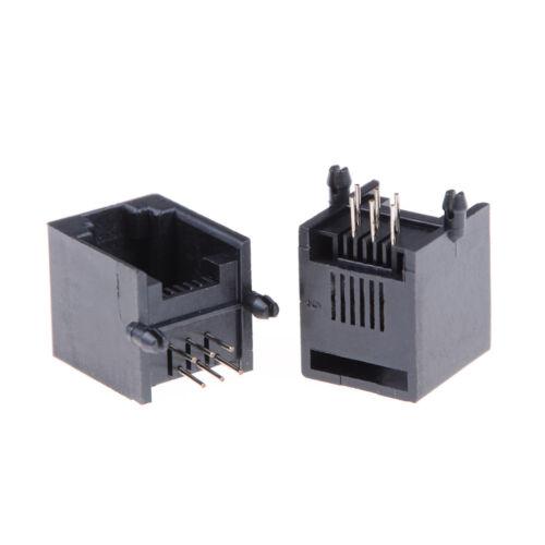 10pcs//set RJ11 RJ12 6P6C Computer Internet Network PCB Jack Socket PLF