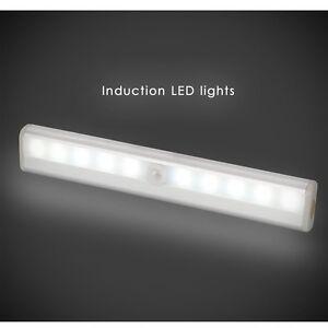 3x 10 LEDs Portable Wireless Motion Sensor Closet Under Cabinet Night Light Lamp