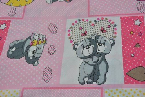 14,95 €//1 metros Tela decorativa algodón-patchwork-osos 240 cm de ancho
