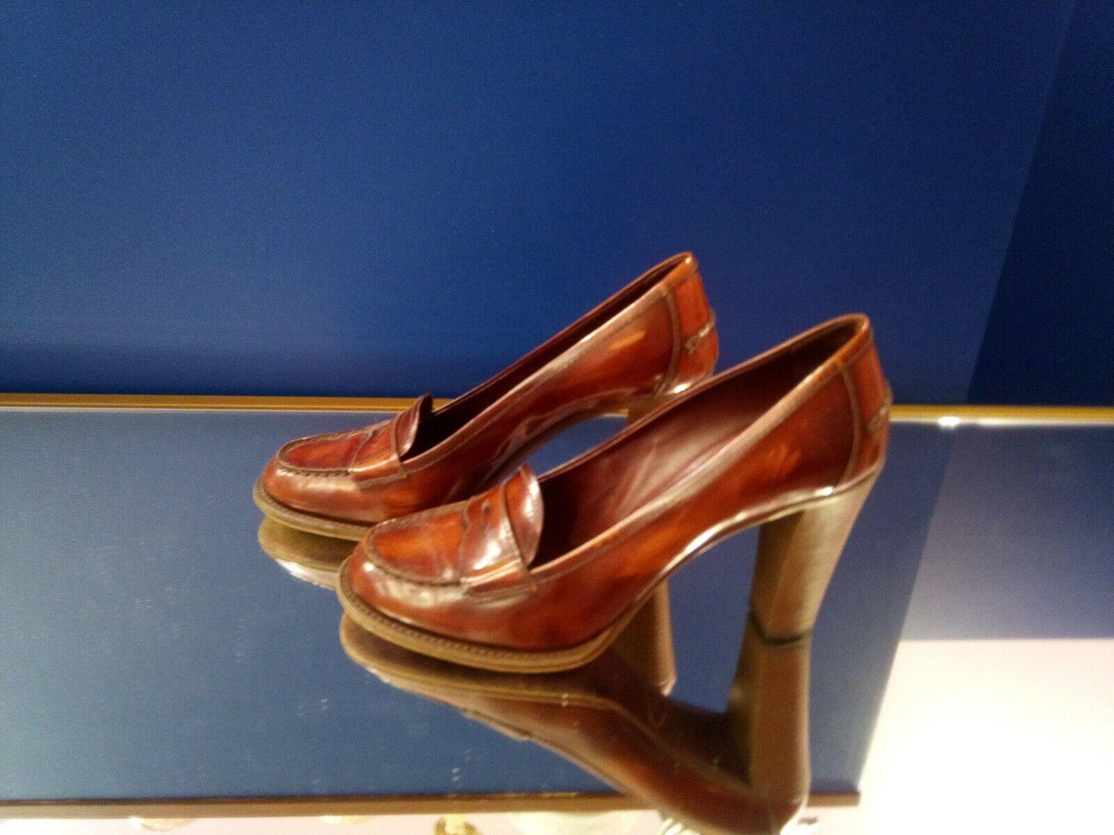Auth Vintage PRADA högklackade skor Röd storlek 40 uk 8 us 10