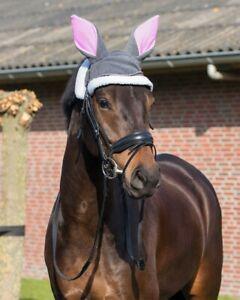 QHP-Osterhasen-Ohrenhaube-Fliegenhaube-Fliegenschutz-Ostern-Pony-Warmblut-neu