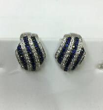 ORECCHINI A CLIP DAMIANI SAN LORENZO 20011516 DIAMANTI ZAFFIRI ORO EARRINGS NEW