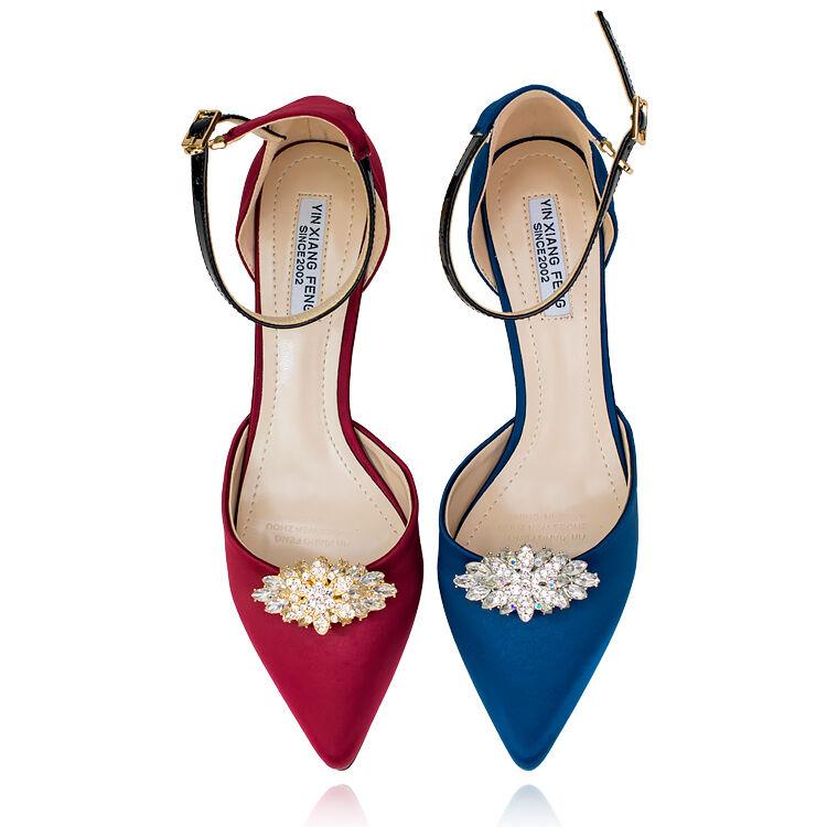 2 Pcs Vintage Diamante Crystal Rhinestone Shoes Wedding Shoe Clips Pair